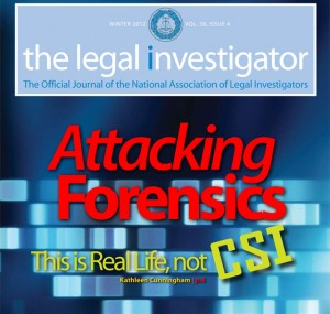 Since 2010, Marketing Eco Has Enjoyed Handling The Legal Investigator Magazine's Design, Desktop Publishing, and Intro Blurb Copywriting