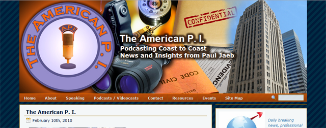 The American Private Investigator WordPress Podcast and Videocast Website