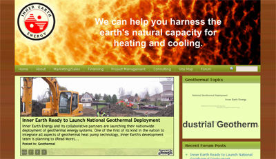 Inner Earth Energy's Geothermal Heating and Cooling Services Website Launches on 100% Solar-Powered Server