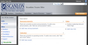 Scanlon Leadership SharePoint Intranet
