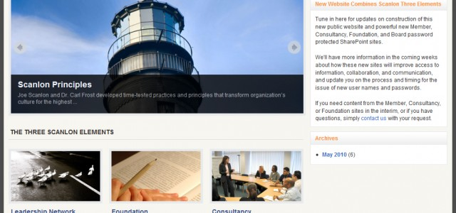 The Scanlon Leadership Network needed to consolidate websites and create an easy-to-manage public website along with member, consultancy, foundation, and board Intranet areas controlled by...