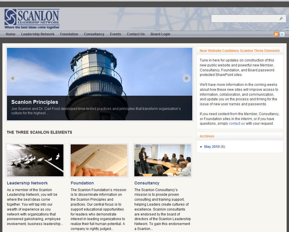 Scanlon Leadership WordPress Website