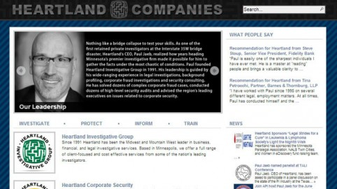 Heartland Companies WordPress Website Refreshes Branding and Enables In-House Edits 24/7 Via Any Internet Browser