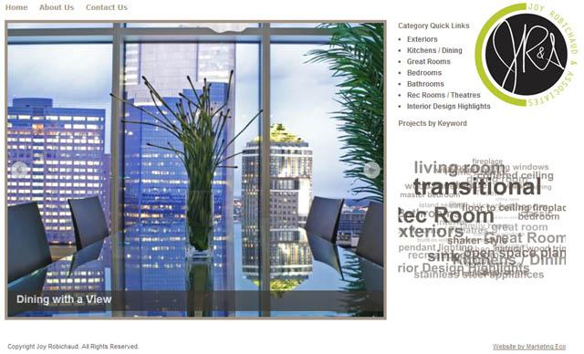 Joy Robichaud interior design portfolio WordPress website