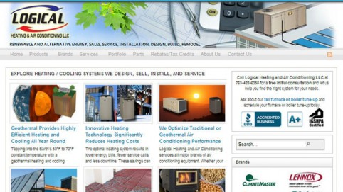 Logical Heating and Air Conditioning's WordPress Website Designed and Developed by Marketing Eco Increases Visitor Traffic